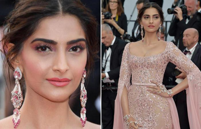 Sonam Kapoor makeup at cannes