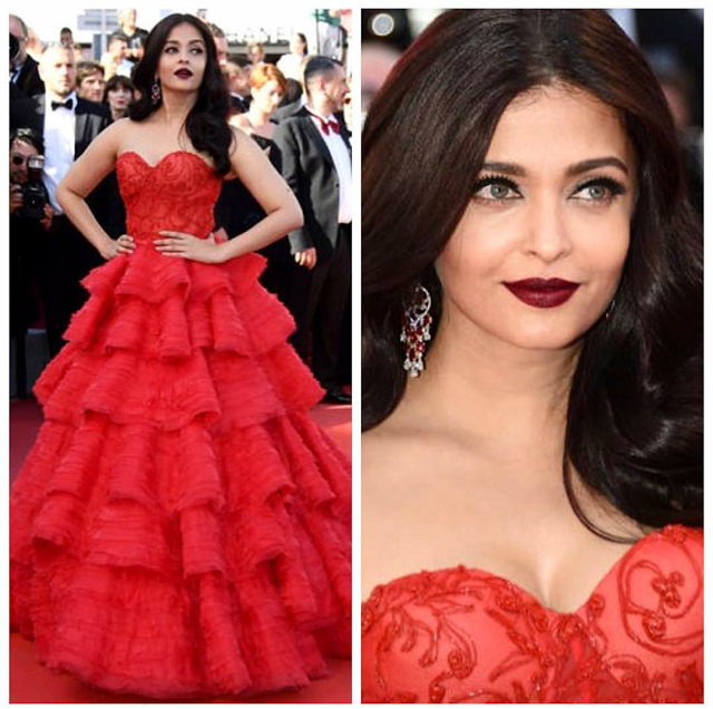 aishwarya rai in red at cannes